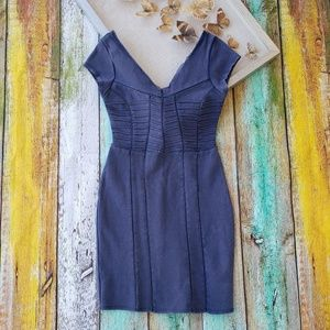 Free People Blue Bodycon Festival Mini Dress S